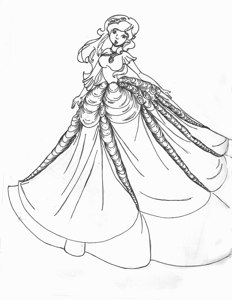 786x1016 Aramina In Ball Dress Coloring Dragon Colouring Pages