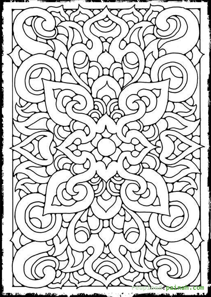 728x1024 Cool Design Coloring Pages