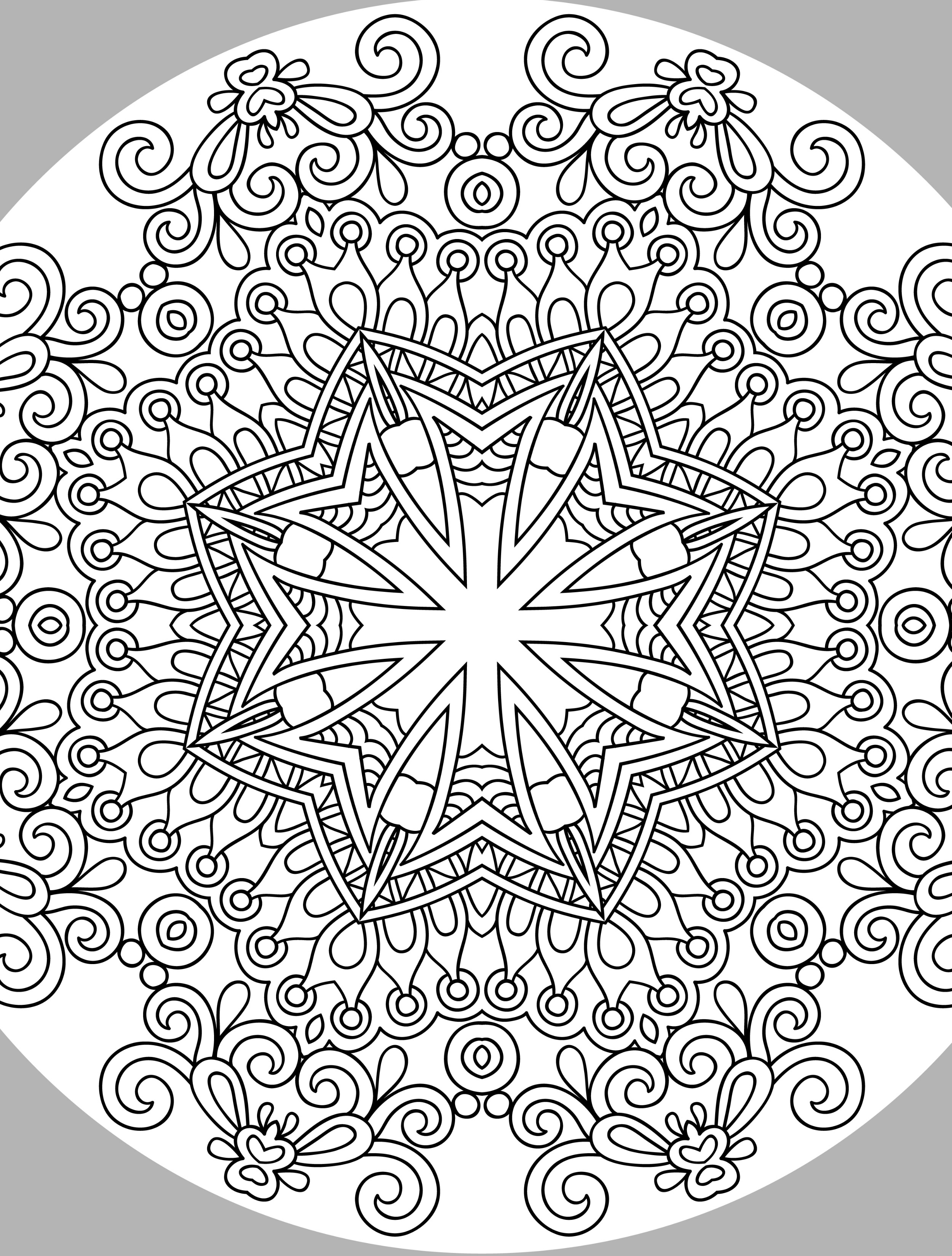 2500x3300 Awesome Adult Coloring Pages Stress Reducing Gallery Printable