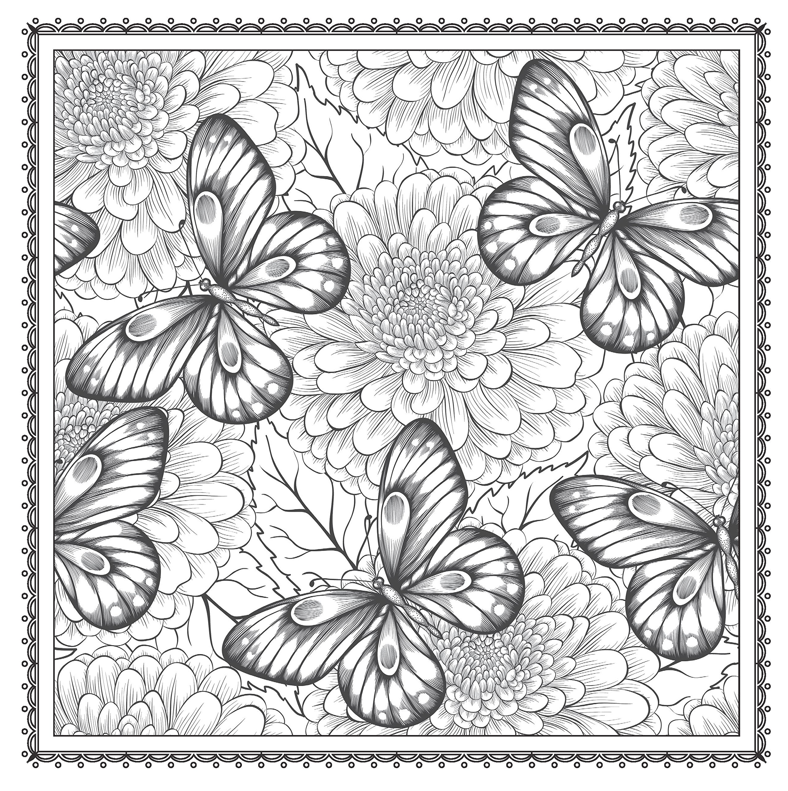2551x2560 Adult Coloring Pages Patterns On Flowers