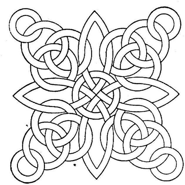 630x630 Printable Geometric Coloring Pages