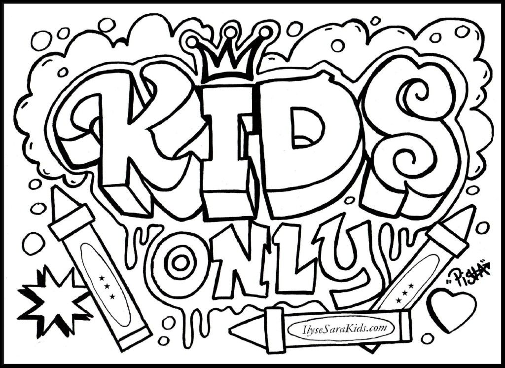 1024x746 Cool Design Coloring Pages Graffiti Creator Coloring Page