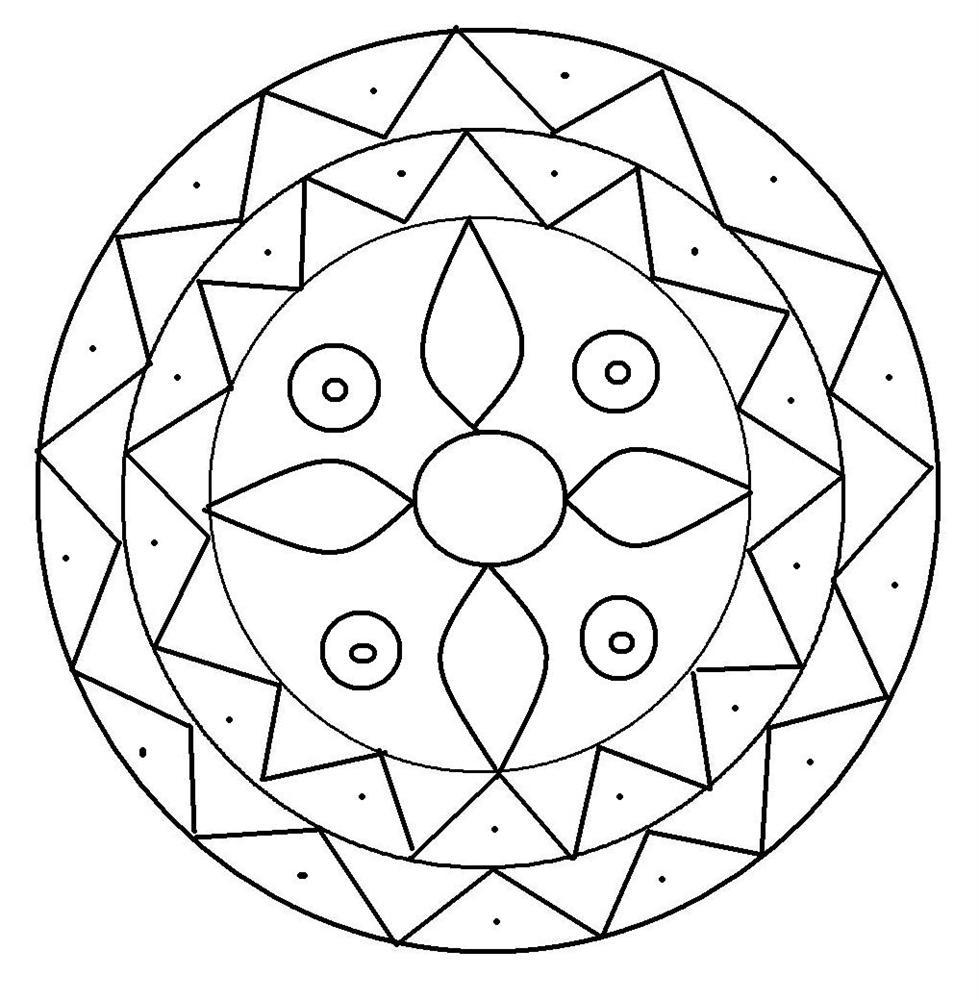 979x1000 Cool Ideas Rangoli Coloring Pages Design Printable Page For Kids