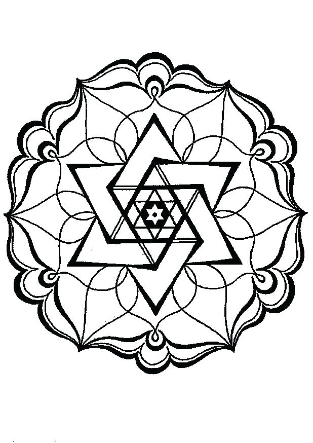 618x874 Geometric Design Coloring Pages