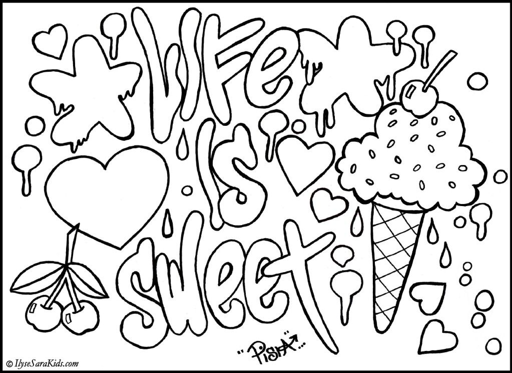 1023x744 Graffiti Coloring Pages To Print