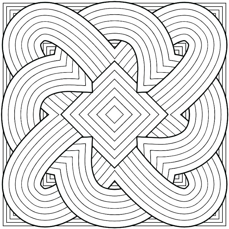 736x736 Pattern Coloring Pages Free Printable Geometric Coloring Pages