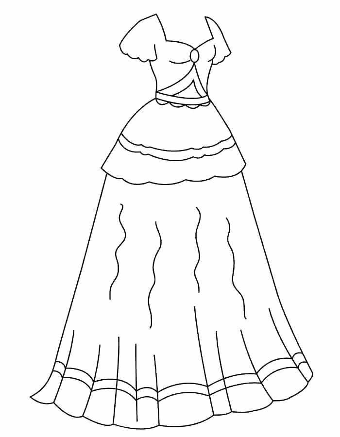 700x900 Excellent Dress Coloring Page Dress Coloring Pages Delightful