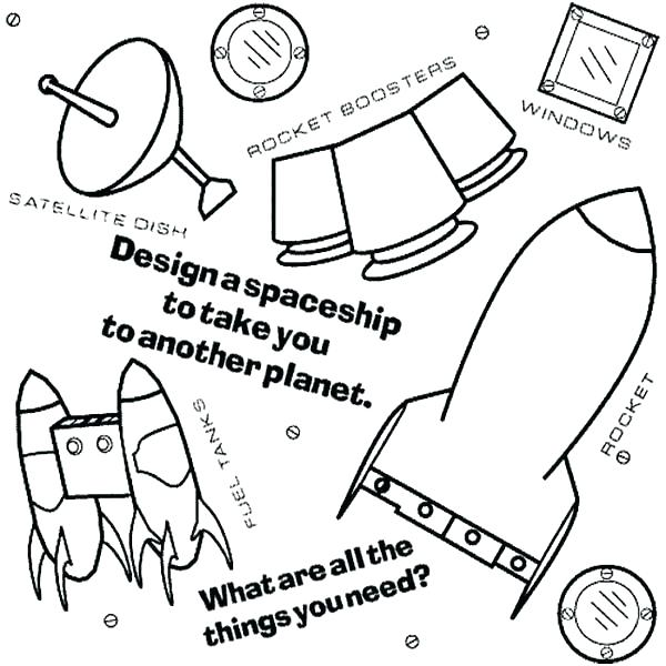600x600 Spaceship Coloring Pages Design Your Own Coloring Page Design Your