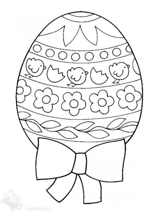 520x693 Kids Easter Themed Coloring Pages