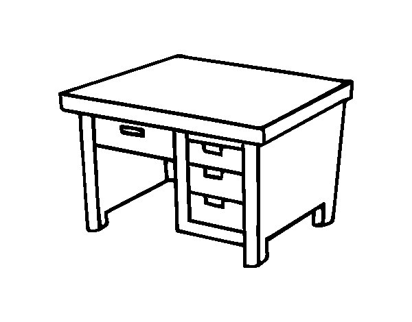 600x470 Desk Coloring Pages