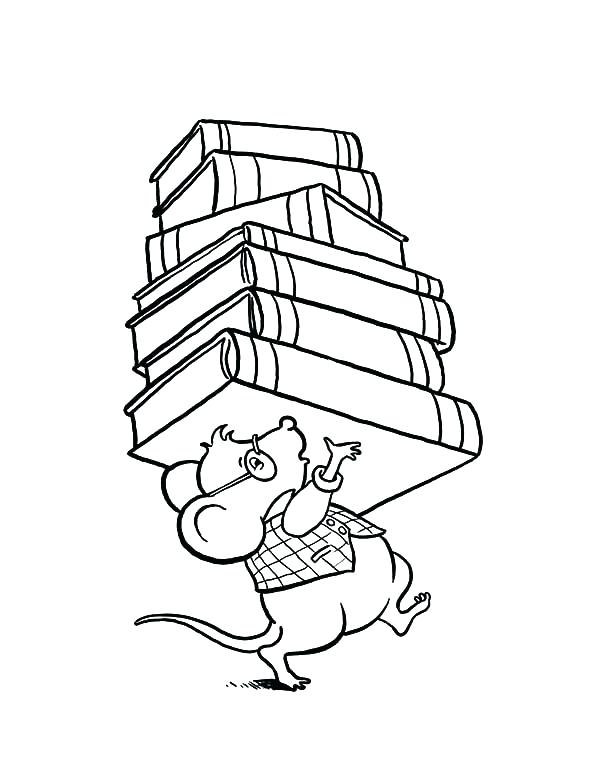 600x776 Library Coloring Page