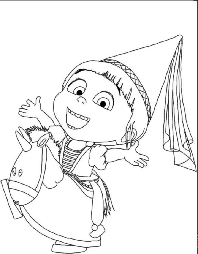 Despicable Me Agnes Coloring Pages