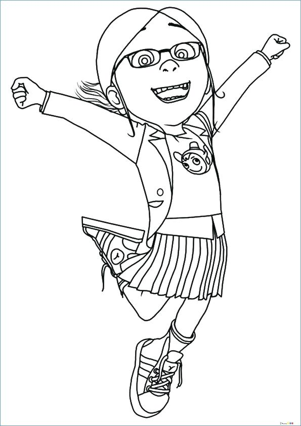 595x842 Despicable Coloring Pages Despicable Me Coloring Pages Preschool
