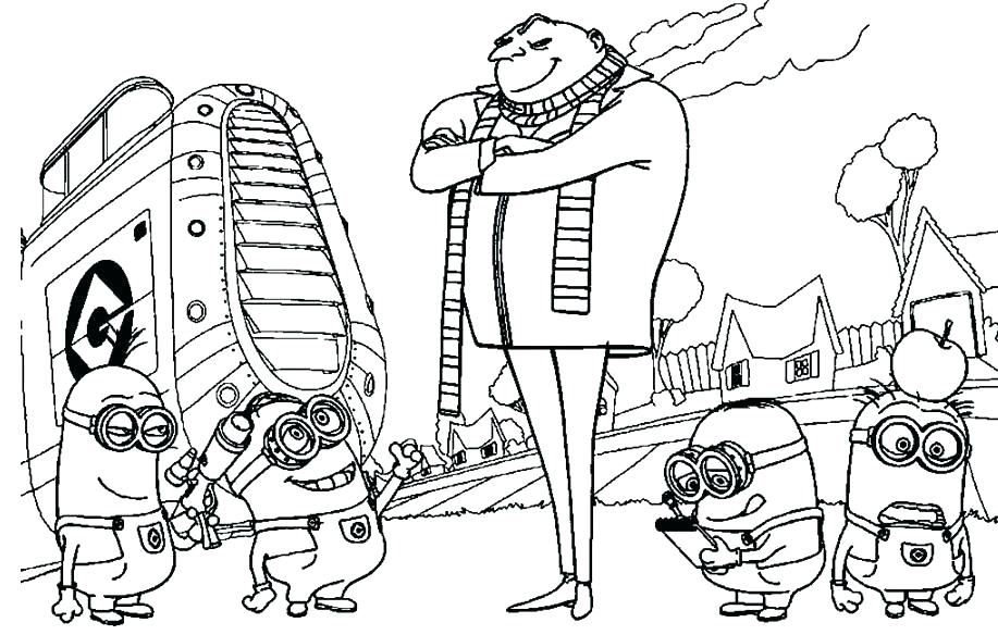 Despicable Me Coloring Pages At Getdrawings Com Free For