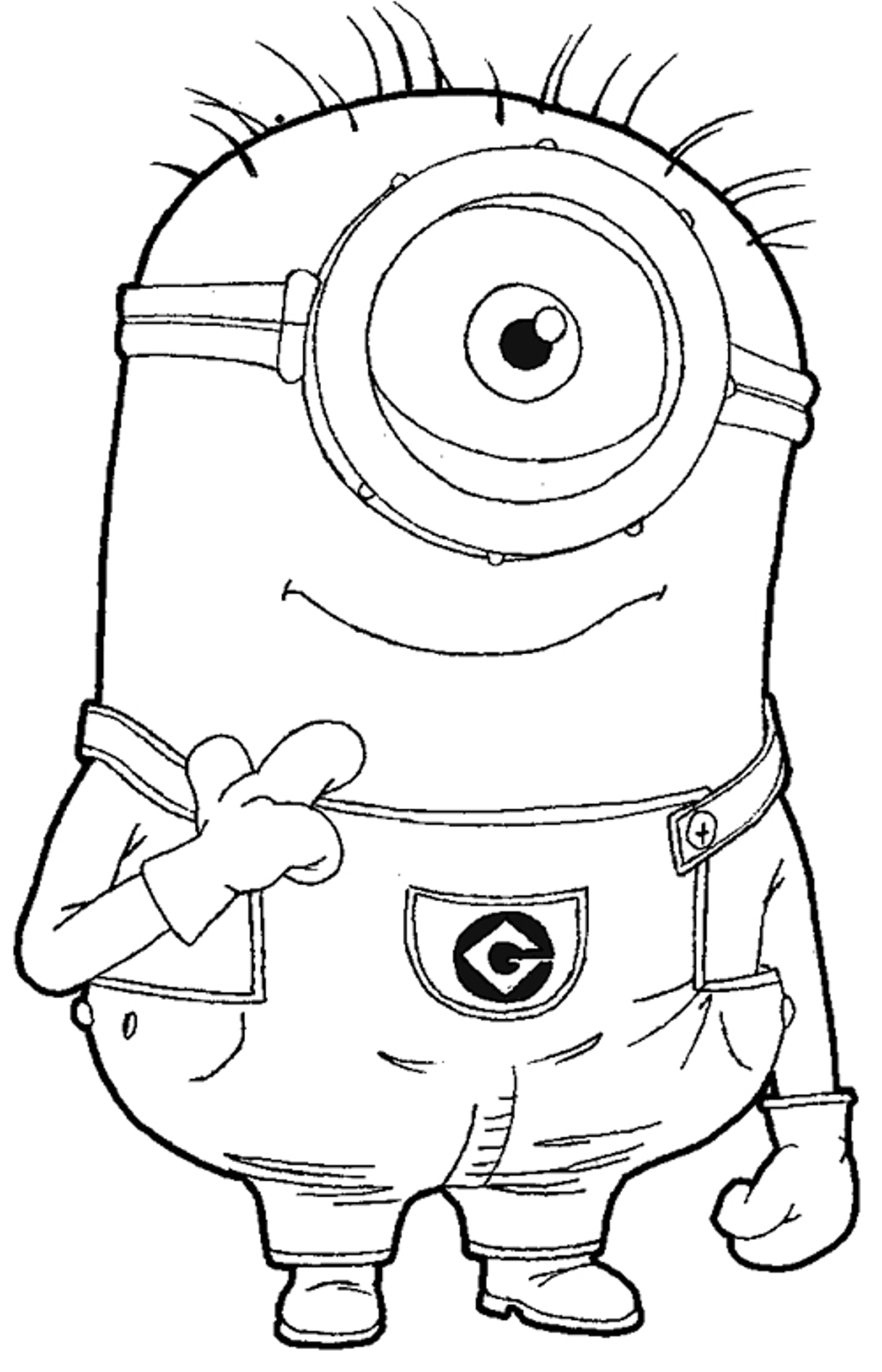 1217x1894 Elegant For Kids Despicable Me Coloring Pages On Despicable Me