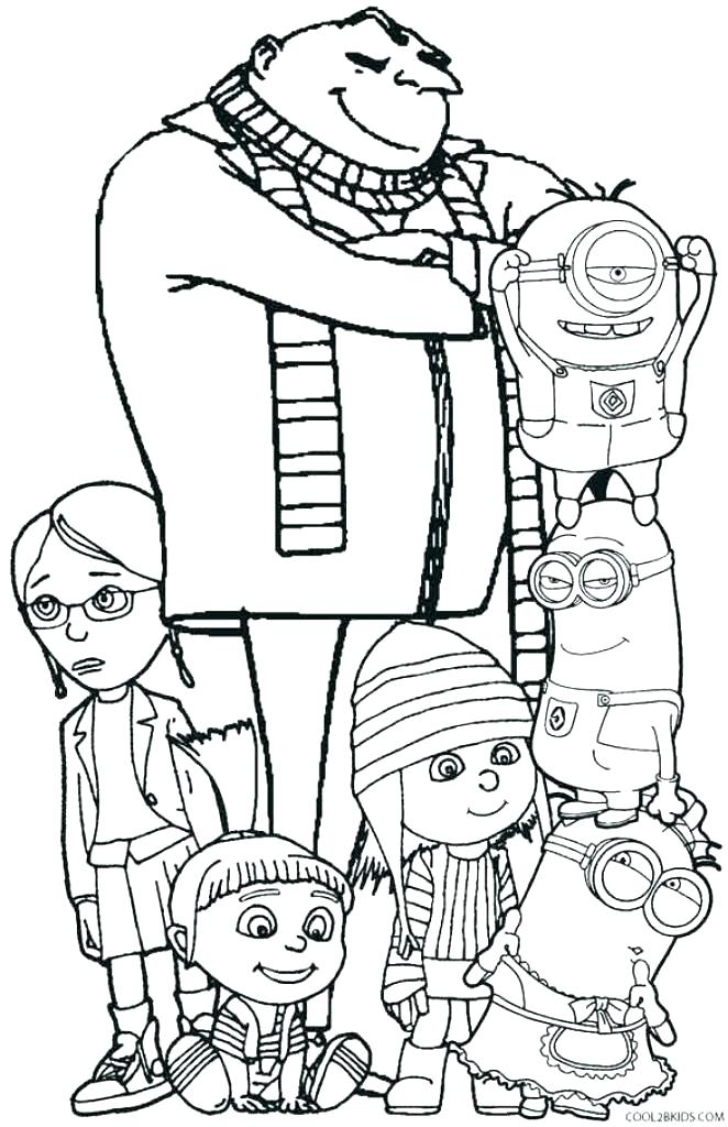 662x1024 Minion Coloring Pages For Kids Despicable Me Minions Coloring