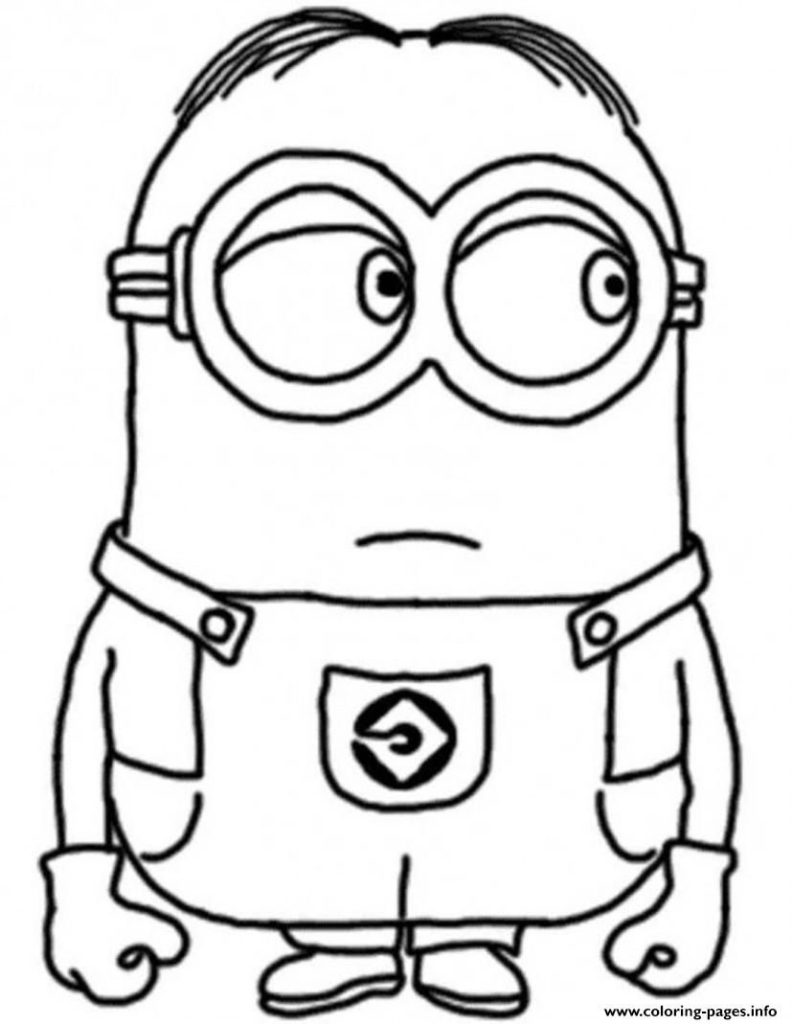 792x1024 Minion Coloring Sheets Print Dave The Despicable Me Pages