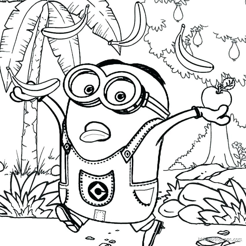 850x850 Despicable Me Coloring Page For Kids Banana Coloring Pages