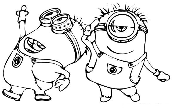 Despicable Me Minions Coloring Pages At Getdrawings Com Free For