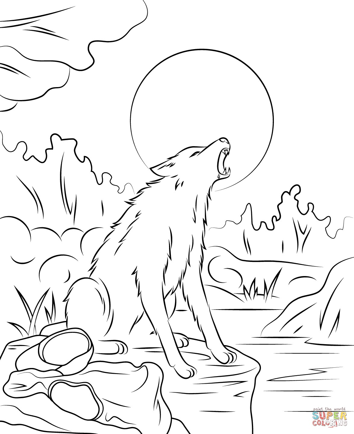 1175x1440 Destiny Werewolf Coloring Page Coloring Pages For Knuffle Bunny