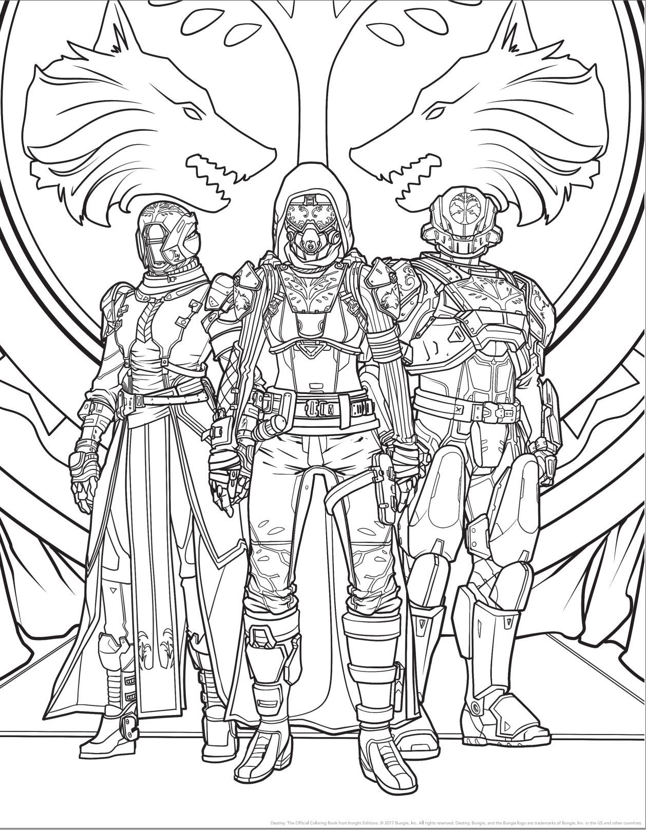 1258x1616 Brilliant Decoration Destiny Coloring Book Ahead Of S Release