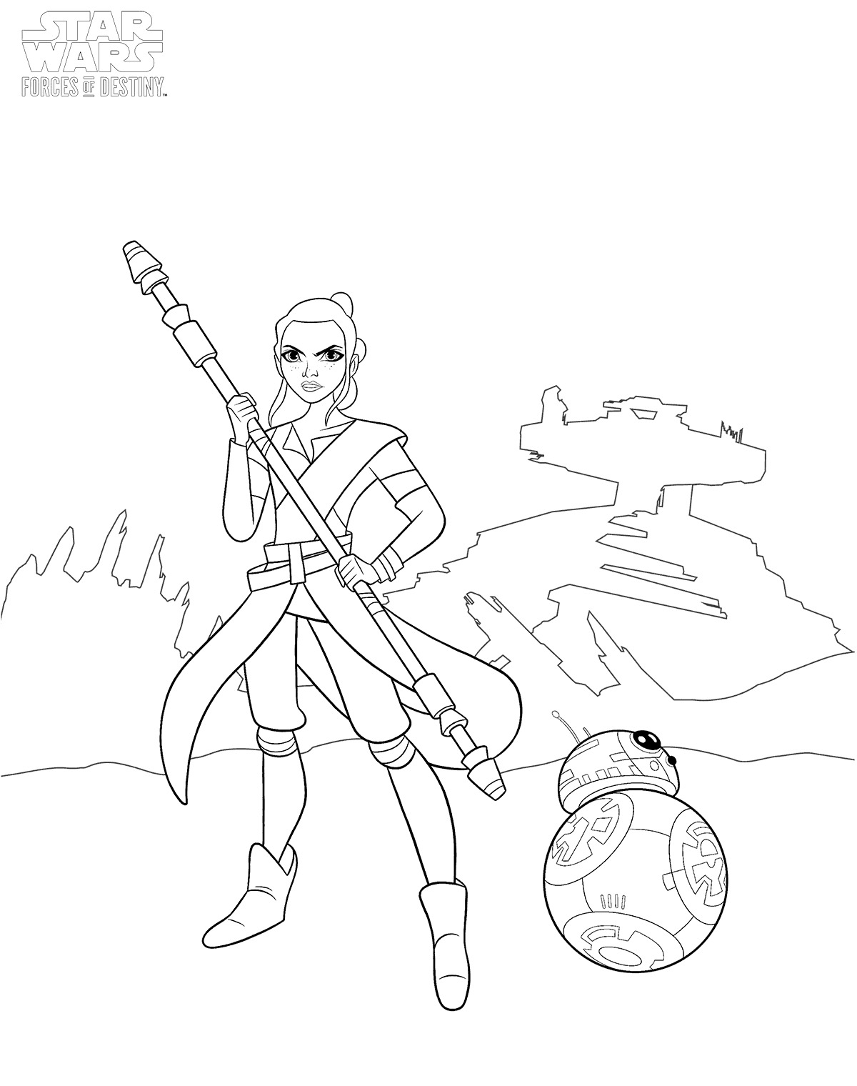 1200x1520 Star Wars Forces Of Destiny Coloring Pages