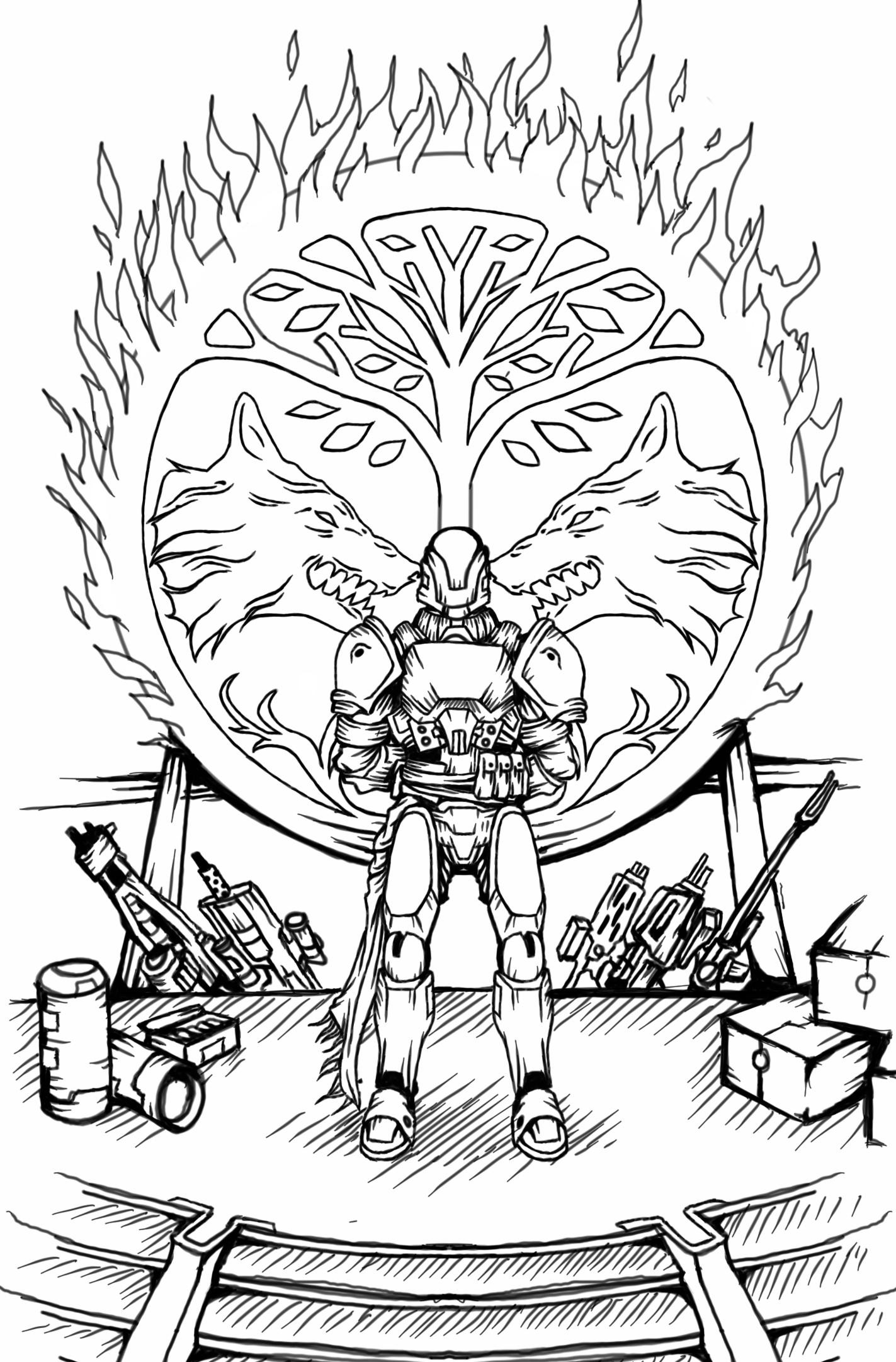 1423x2164 Bungie Destiny Coloring Pages