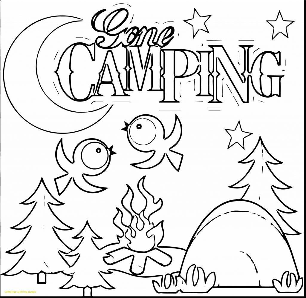 1024x998 Destiny Camping Coloring Pages Easy Camping Coloring Sheets Free