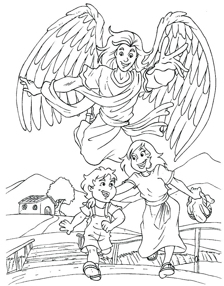 764x974 Guardian Angel Coloring Pages Free Angel Coloring Pages Pages