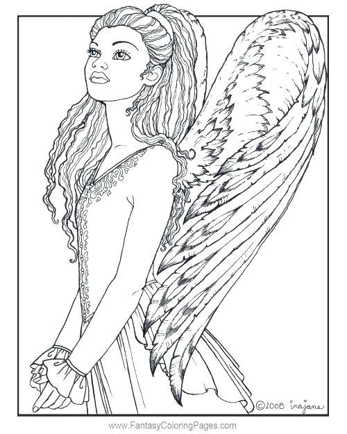 500x625 Angel Coloring Pages Angel Coloring Pages For Adults Angel
