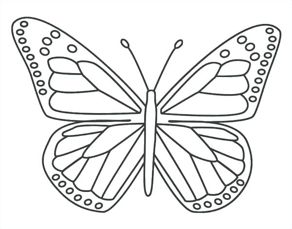 600x470 Butterfly Printable Coloring Pages Printable Butterfly Coloring