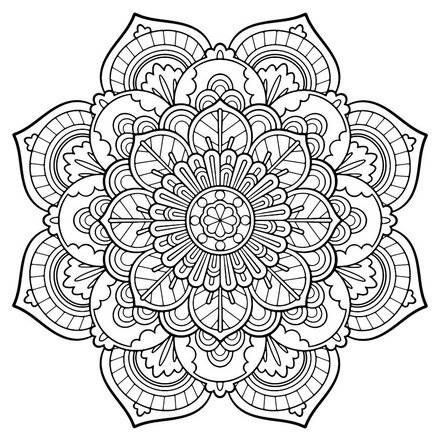 440x440 Detailed Mandala Coloring Pages For Adults World Of Example