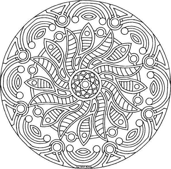 595x589 Clever Design Detailed Coloring Pages For Adults