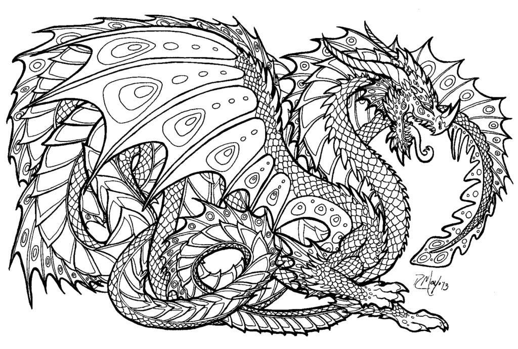 Detailed Coloring Pages Of Dragons