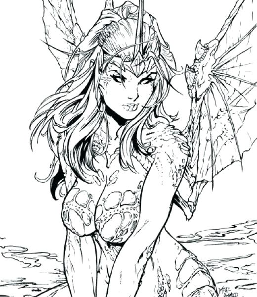 520x600 Fairy Coloring Pages Printable Detailed Fairy Coloring Pages Free