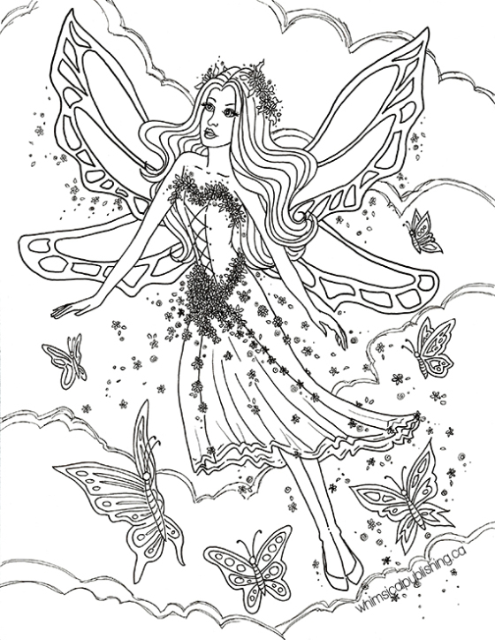 560x724 Free Colouring Pages On Detailed Fairy Coloring Pages