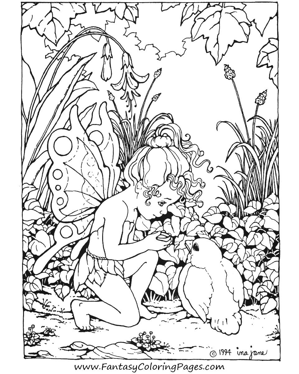 960x1200 Image Detail For Free Fairy Coloring Pages