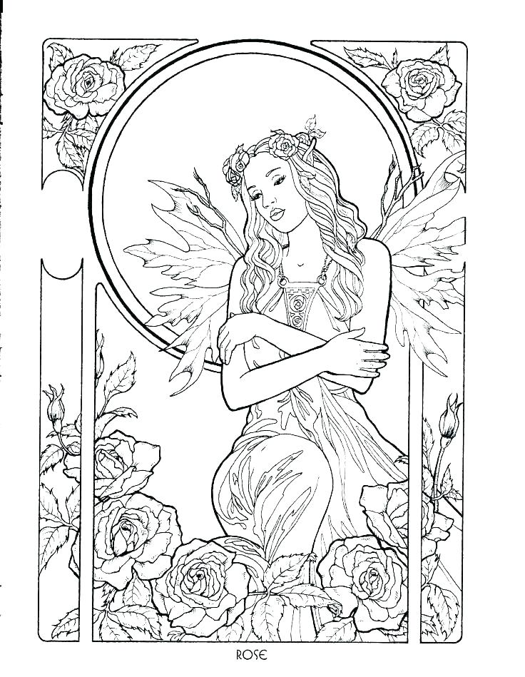 736x949 Printable Fairy Coloring Pages Free Printable Fairy Notes Medium