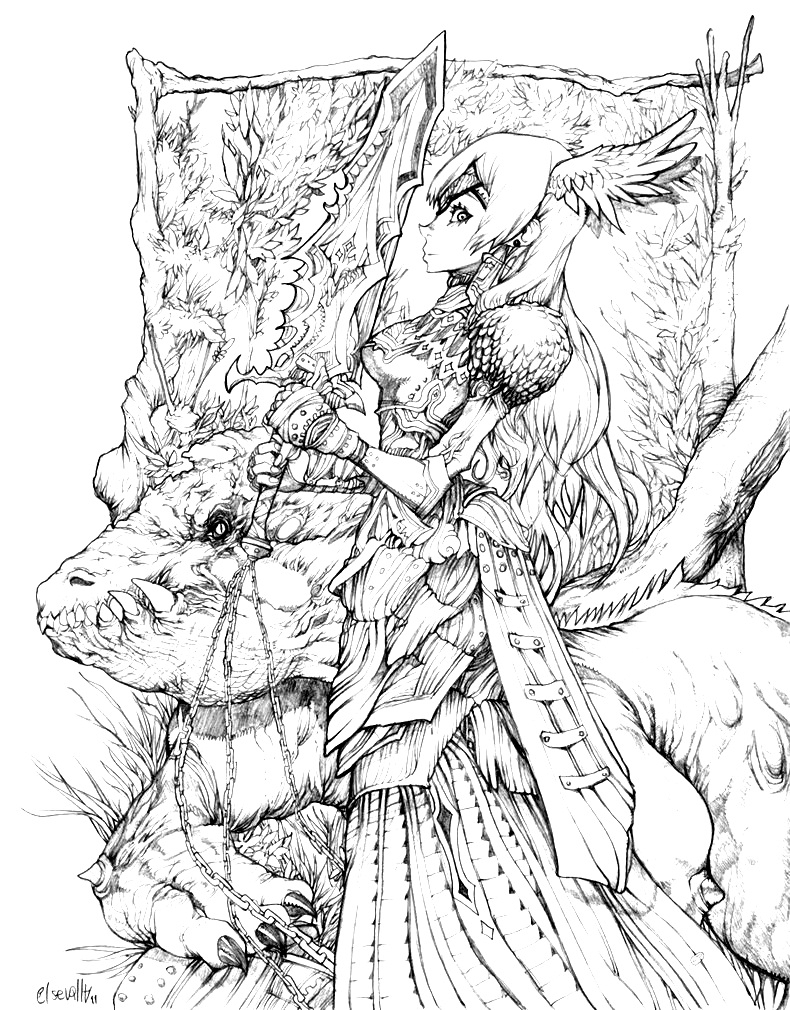 Detailed Fantasy Coloring Pages At Getdrawings Free Download