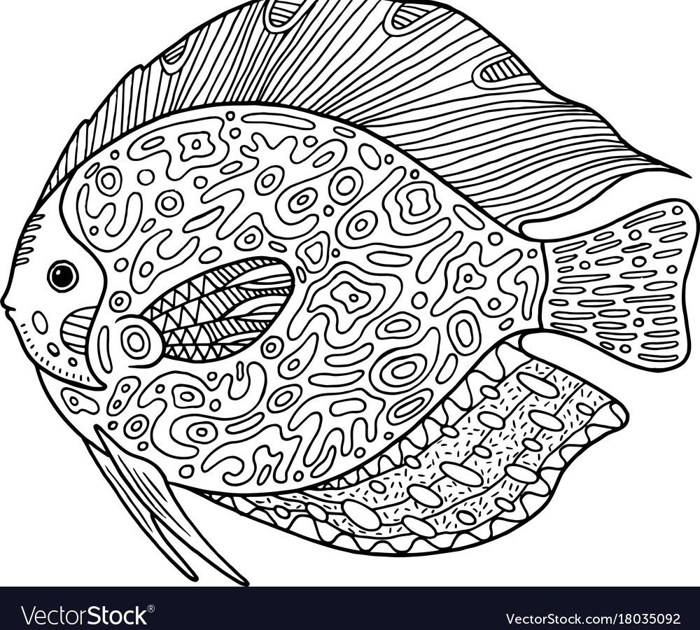 1000x900 Ornate Fish Coloring Pages For Kids Adults Free Printable High