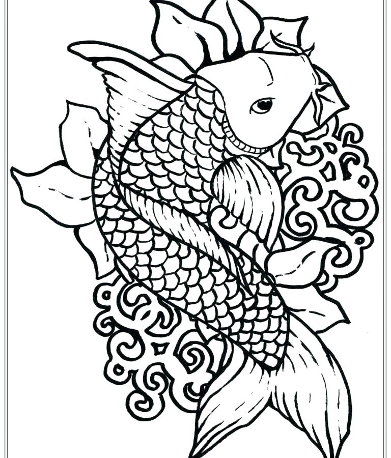 768x900 Bass Fish Coloring Pages