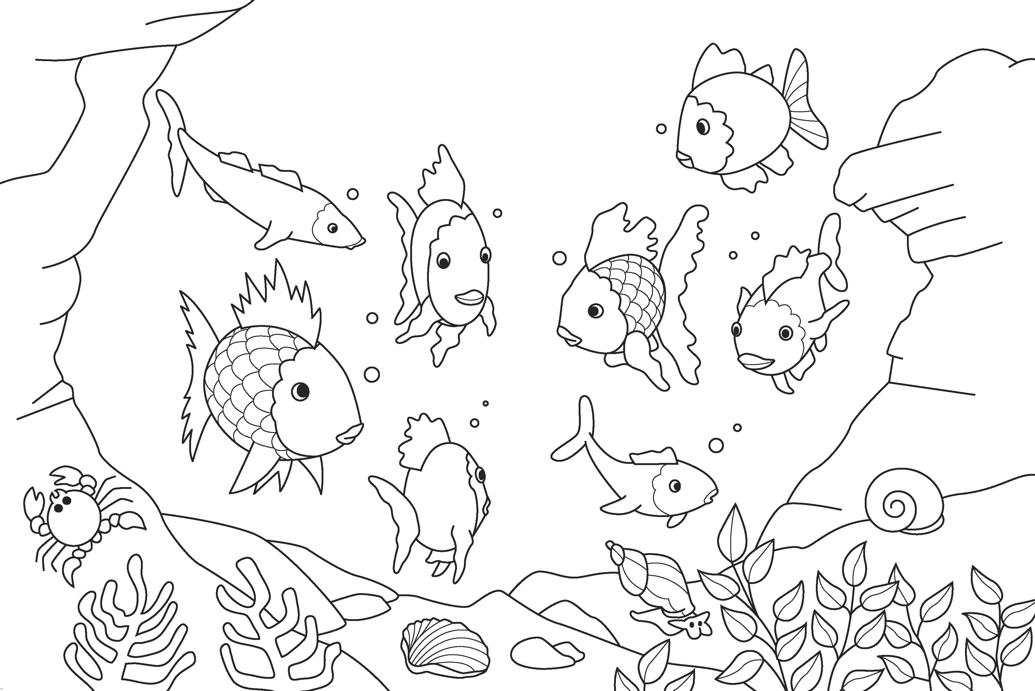3386x2260 Strong Coloring Sheets Of Fish Free Printable Unknown Fishing
