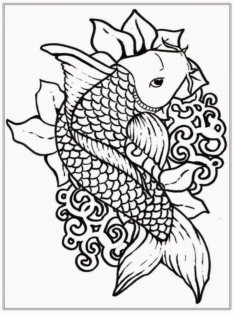 768x1024 Best Of Koi Adult Coloring Pages To Print Gallery Printable