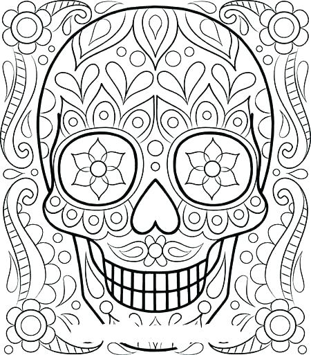 450x513 Detailed Halloween Coloring Pages Detailed Coloring Pages