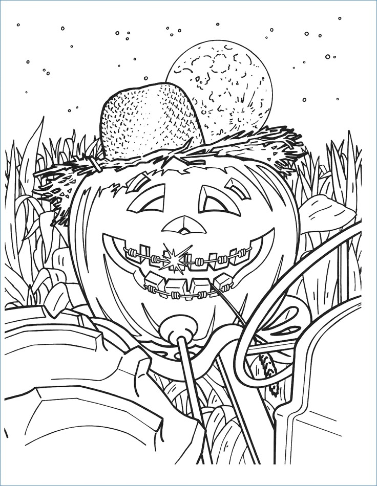 736x950 Halloween Coloring Pages For Elementary