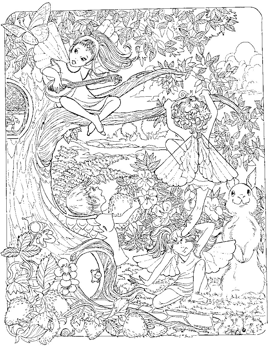 904x1160 Marvellous Detailed Coloring Pages Printable Fairy Coloring Page