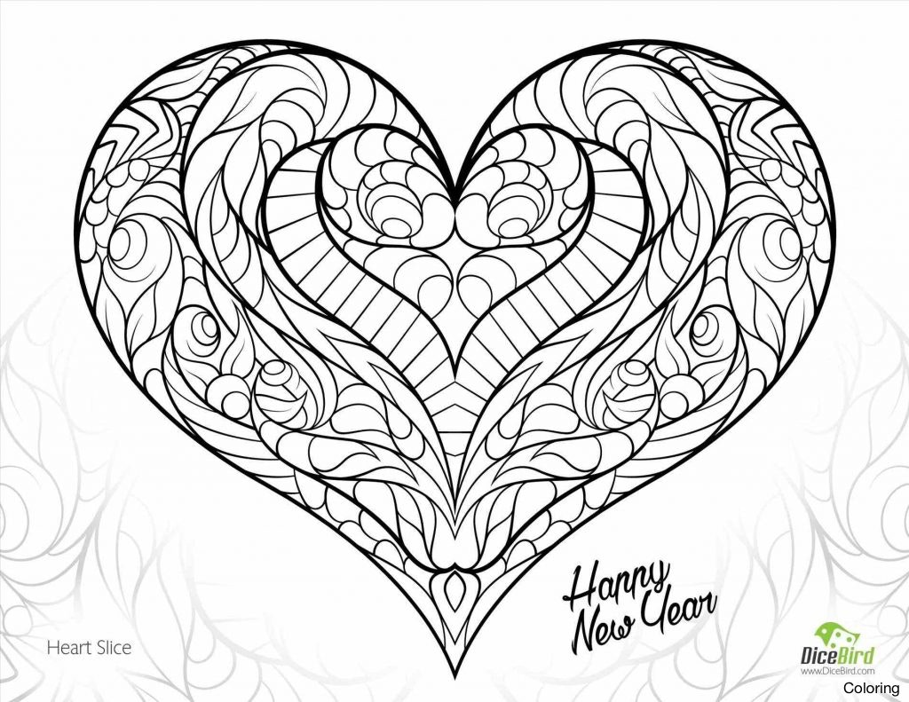 1024x791 Double Heart Coloring Pages