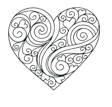 361x345 Heart Coloring Page Heart Coloring Book Together With Love Heart