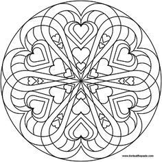 236x236 Heart Mandala To Color Mandala Coloring, Mandala And Adult Coloring