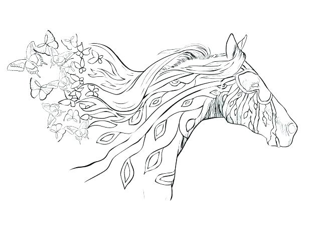 Detailed Horse Coloring Pages at GetDrawings.com   Free for personal ...